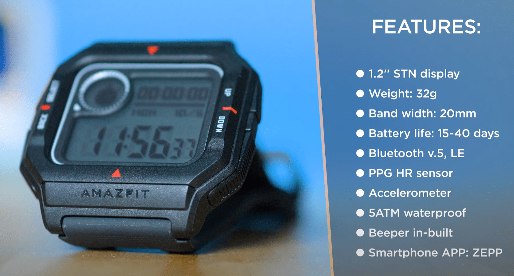 AmazFit Neo - Main Features