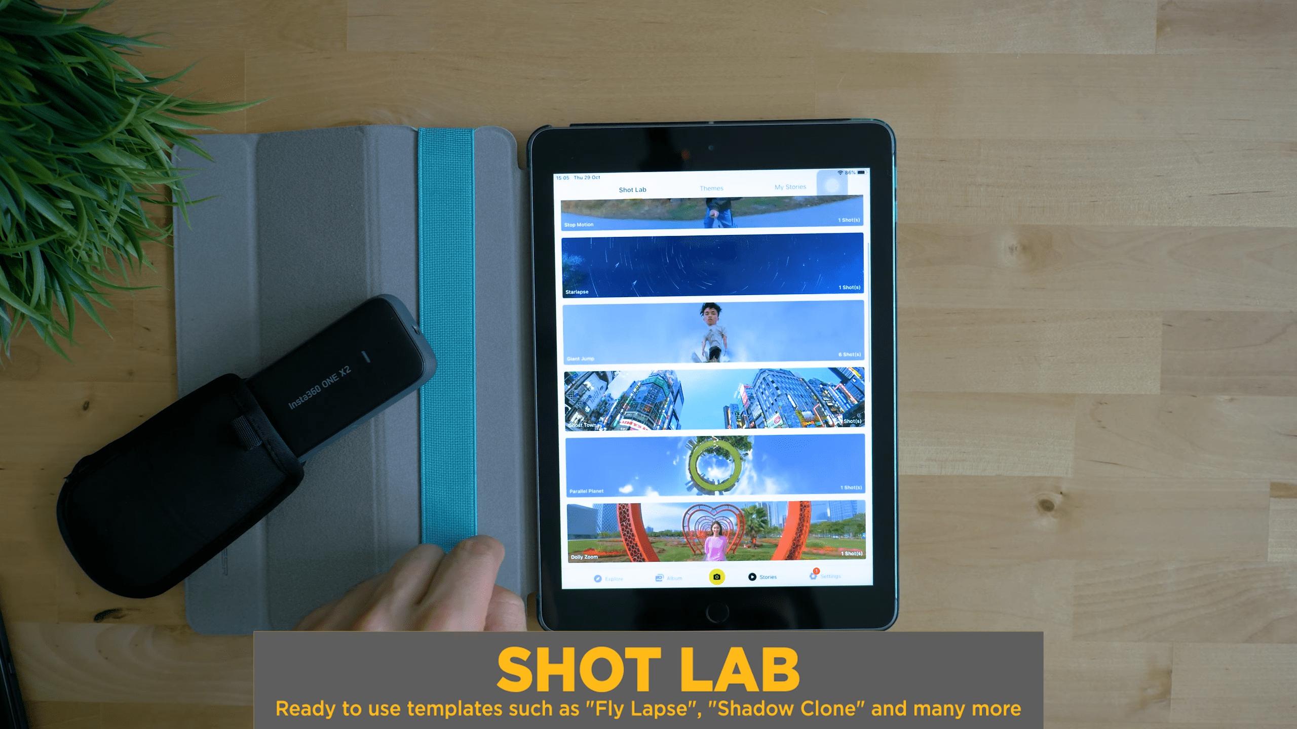 Insta360 ONE X2 Shot Lab