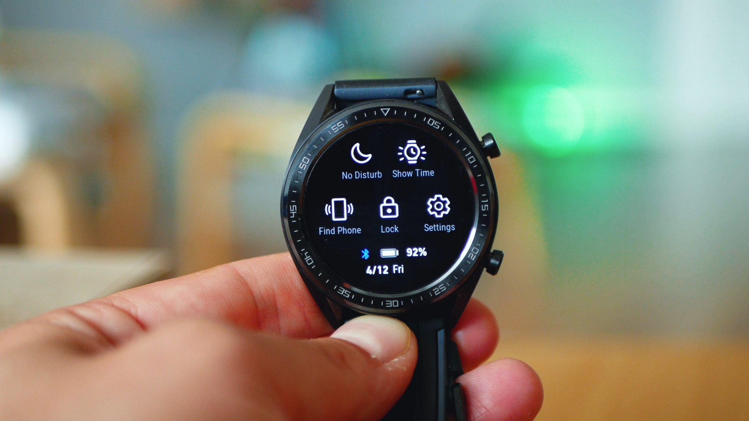 Huawei Watch GT quick toggles display
